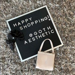 Small Silver Vintage Handbag with Rosebuds